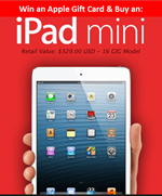 Win an iPad Mini Gift Card