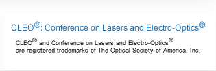 CLEO; Conference on Laser and Electro-Optics