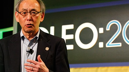 Steven Chu speaking at CLEO:2015