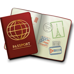 Clipart of a passport